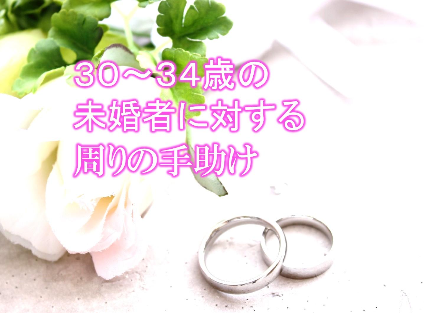 30〜34歳の未婚者に対する周りの手助け